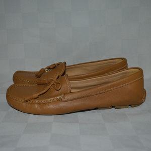 Sz 39 8.5 Prada Light Brown Leather Loafers